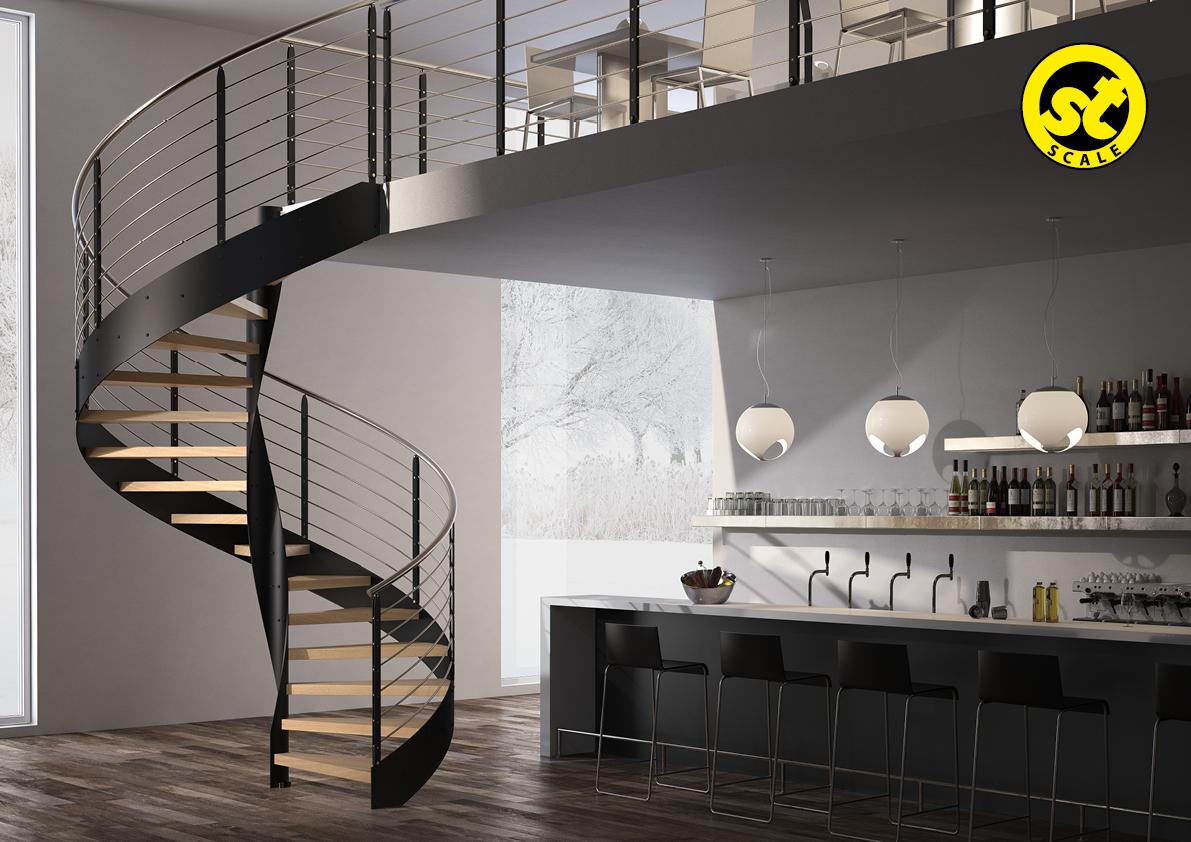 scale moderne acciaio legno amserramenti